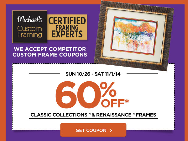 60% OFF CLASSIC COLLECTIONS & RENAISSANCE FRAMES. GET COUPON