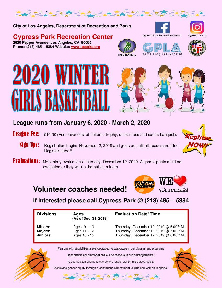 Cypress Girls Winter Basketball 2020