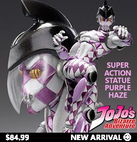 JoJo's Bizarre Adventure Super Action Statue Purple Haze
