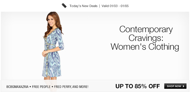 Save Up to 85% OFF Contemporary Cravings Women's Clothing + Free Shipping For US All Orders at 6pm.com