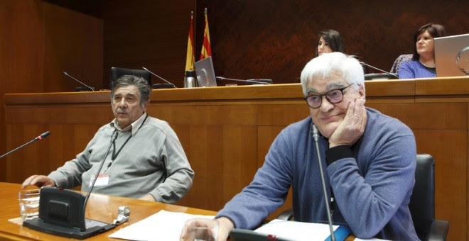 Carlos Slepoy y Chato Galante en las Cortes de Aragón.- CORTES DE ARAGÓN