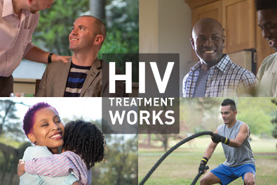 HIV Treatment Works collage