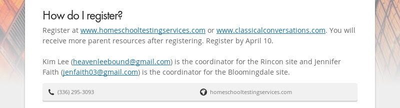 How do I register?