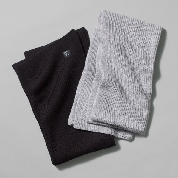 Whitney Logo Wool Scarf