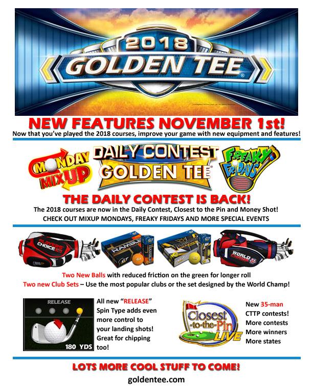 Golden Tee 2018 - New Features November 1st!
