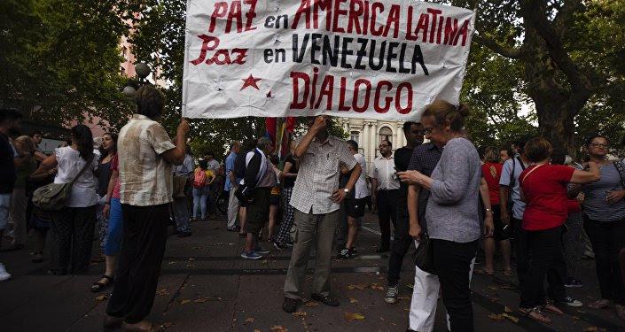 Manifestación en Uruguay a favor del diálogo