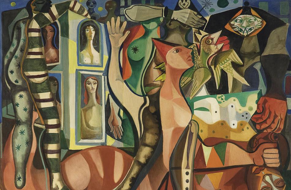 Emiliano di Cavalcanti (Brazil), Sonhos do carnaval ('Dreams of Carnaval'), 1955.