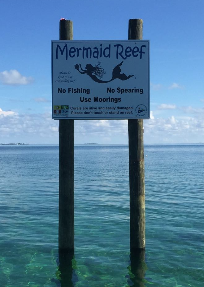 Mermaid Reef sign