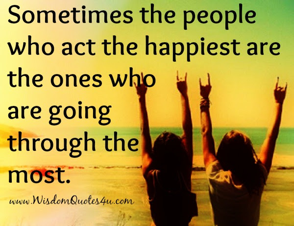 The people who act the happiest