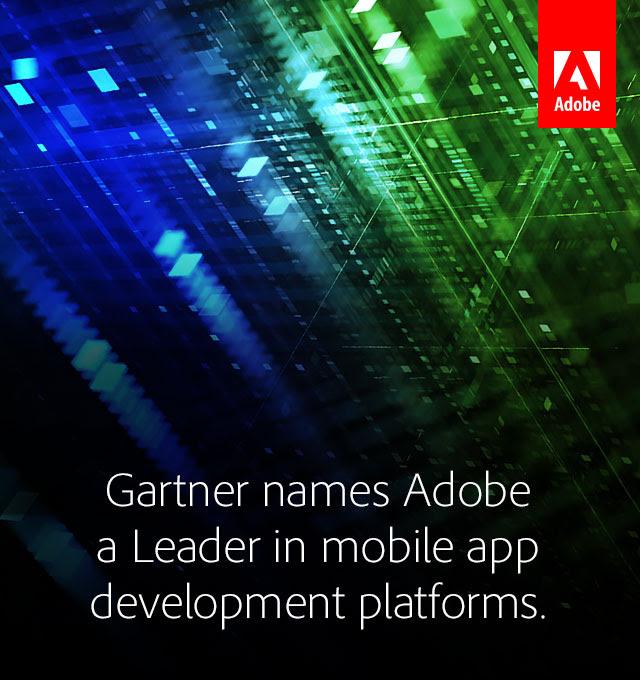 Adobe is a Leader in mobile app development platforms. Gartner agrees. Download now