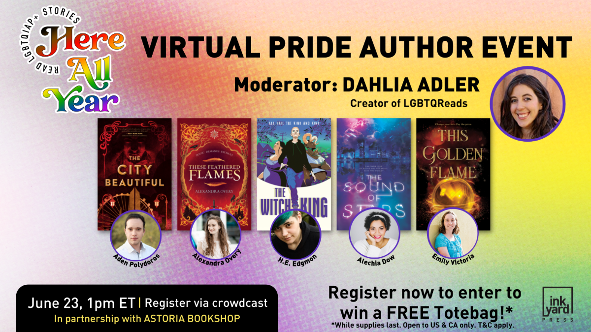 Alt: Photos and book covers of all of the authors along with the details of the event listed below.