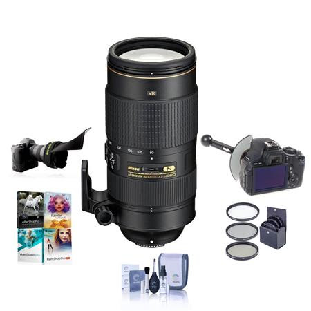 80-400mm f/4.5-5.6G AF-S VR NIKKOR ED Lens - USA Warranty - Bundle w/77mm Filter Kit, Focu