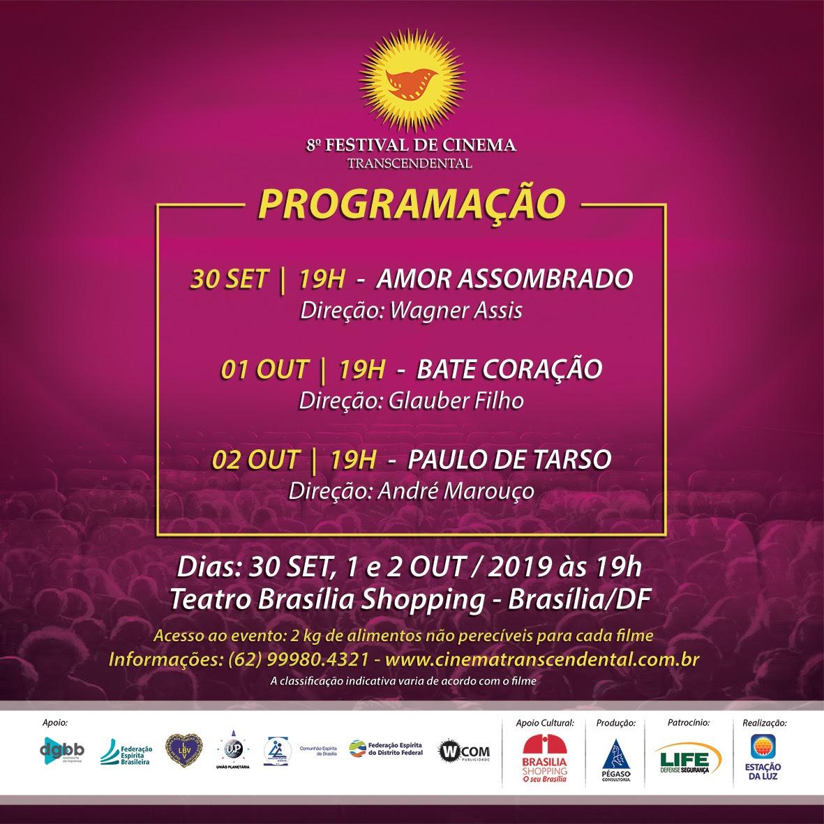 Festival de Cinema Transcendental chega a sua oitava edição em Brasília
