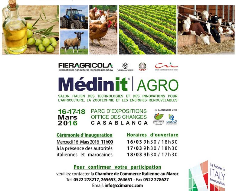 Pour confirmer votre participation, veuillez contacter la Chambre de Commerce Italienne au Maroc