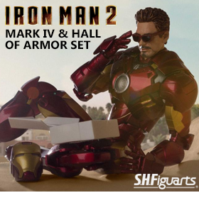S.H.FIGUARTS IRON MAN MARK IV & HALL OF ARMOR SET