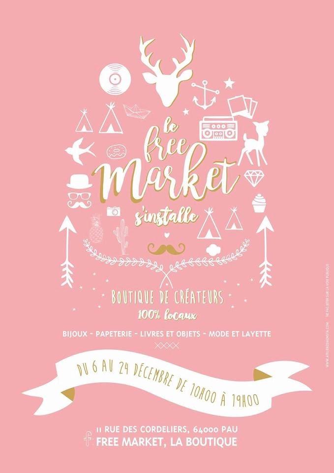 Le Free Market, boutique de créateurs à Pau