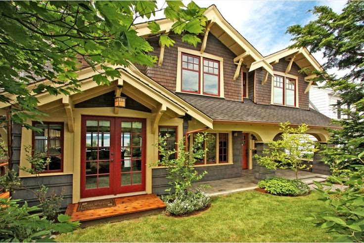 craftsman house dark trim - Google Search