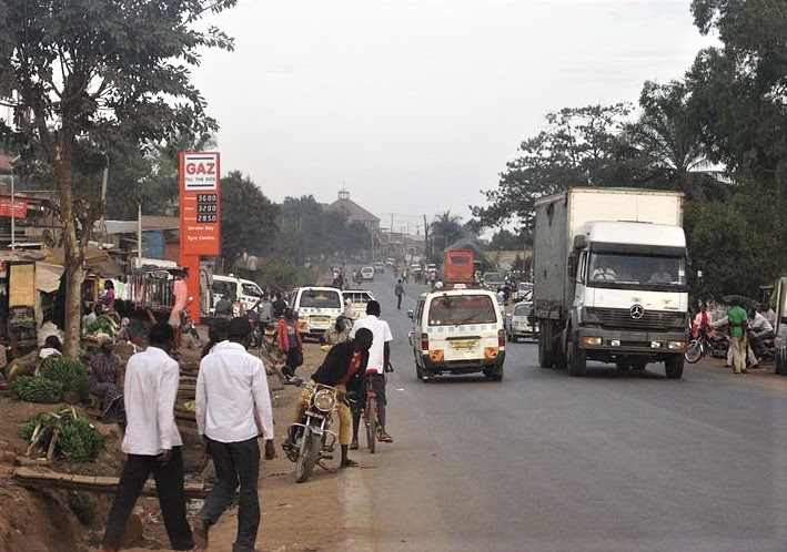 A town in Wakiso District, Matugga-Mabanda, in central Uganda. (Wikipedia, Wulman83)