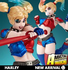 DC Comics Amazing Yamaguchi Revoltech No.015EX Harley Quinn (New Color Ver.)
