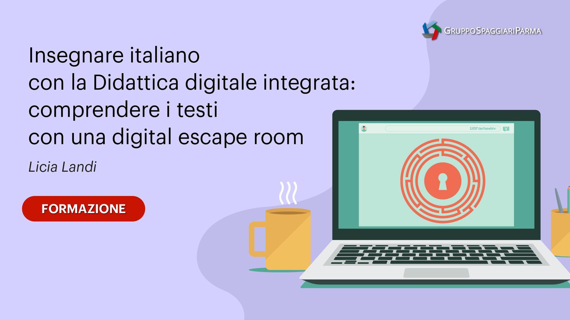Insegnare italiano con la Didattica digitale integrata: comprendere i testi con una digital escape room