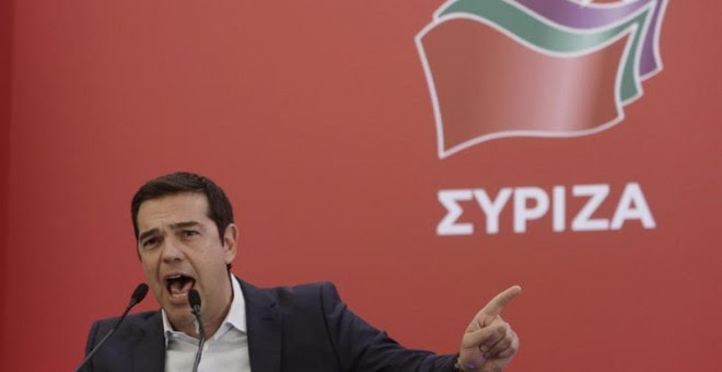 Alexis Tsipras, durante su discurso en el comité nacional de Syriza./ EFE