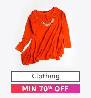 Clothing : Minimum 70% Off