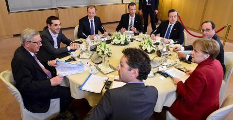 Reunión especial del pasado jueves sobre Grecia, paralela a la cumbre de jefes de Estado y Gobierno Europeos en Bruselas. - REUTERS