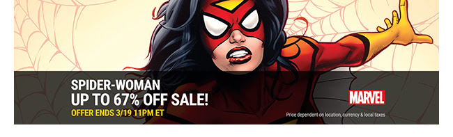 Marvel Spider-Woman Sale: up to 67% off! | Ends 3/19