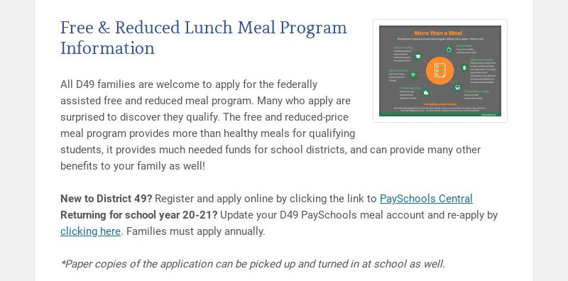 Free & Reduced Lunch Meal Program Information