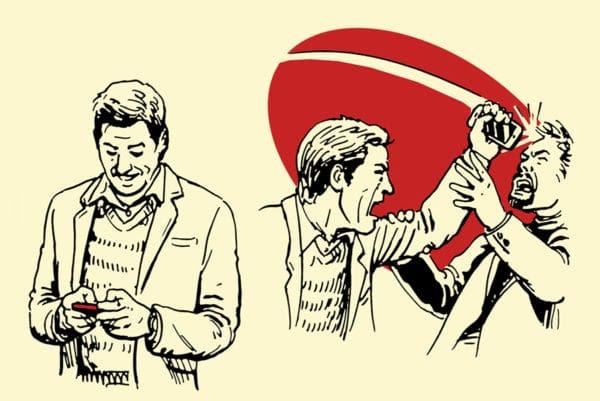 smartphone improvised weapon self-defense illustration