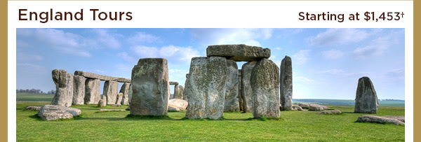 England Tours - Starting at $1,282+