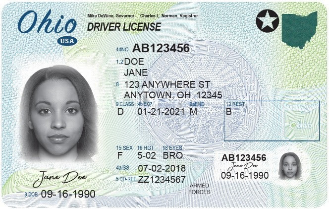 Federally Compliant Ohio Driver's License