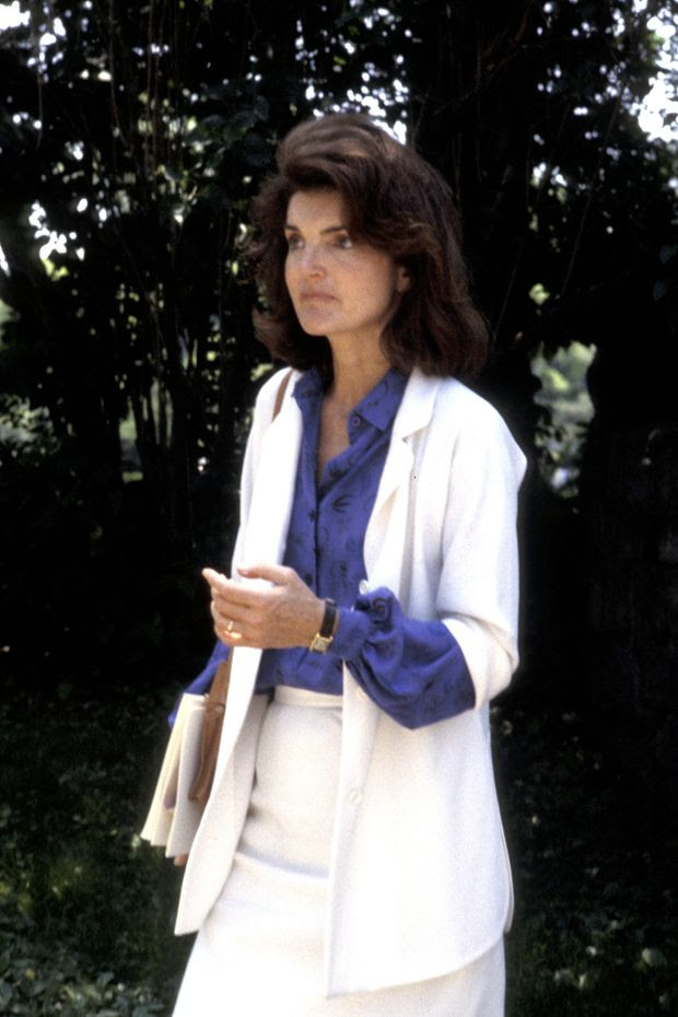 Jacqueline Kennedy Onassis Style: A White Back-to-Work Blazer - WSJ