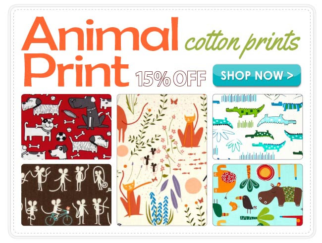 15% Off Animal Cotton Prints