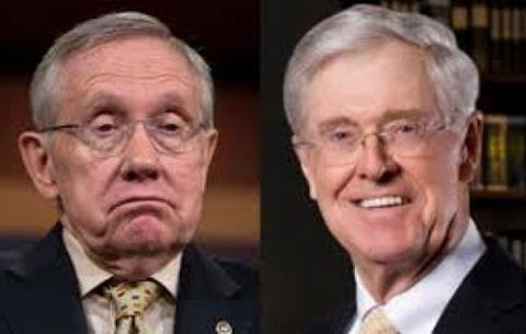Charles Koch Crushes Democrat Harry Reid in New Poll