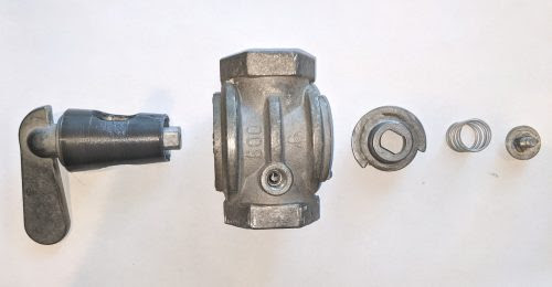 Lube valve exploded view