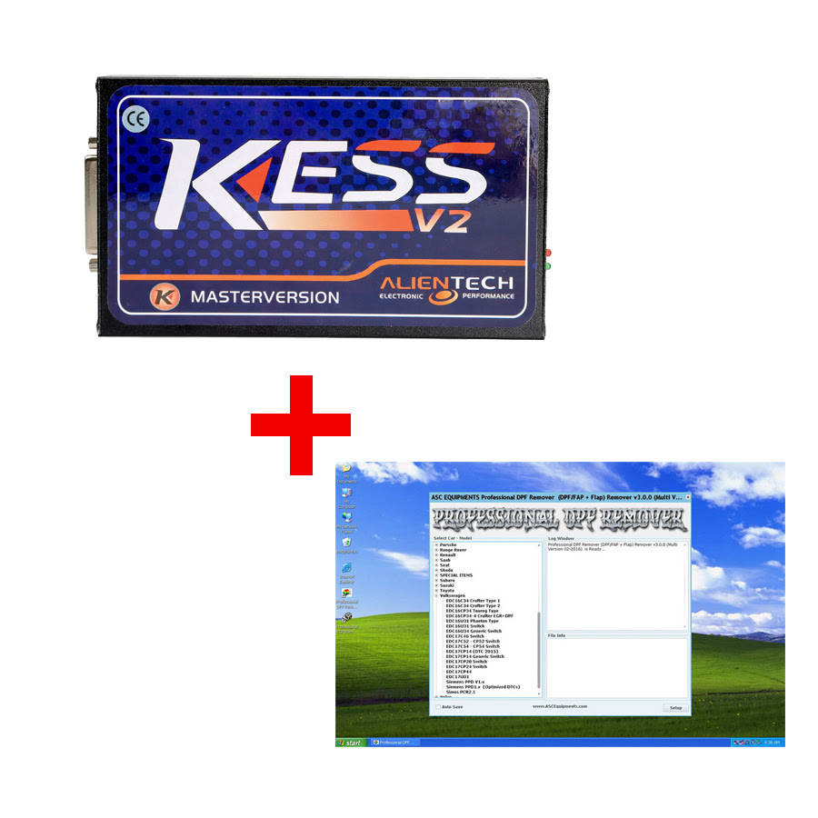 (Free Ship) Best Price Newest Kess V5.017 Online Version plus Professional DPF + EGR Remover 3.0 Software