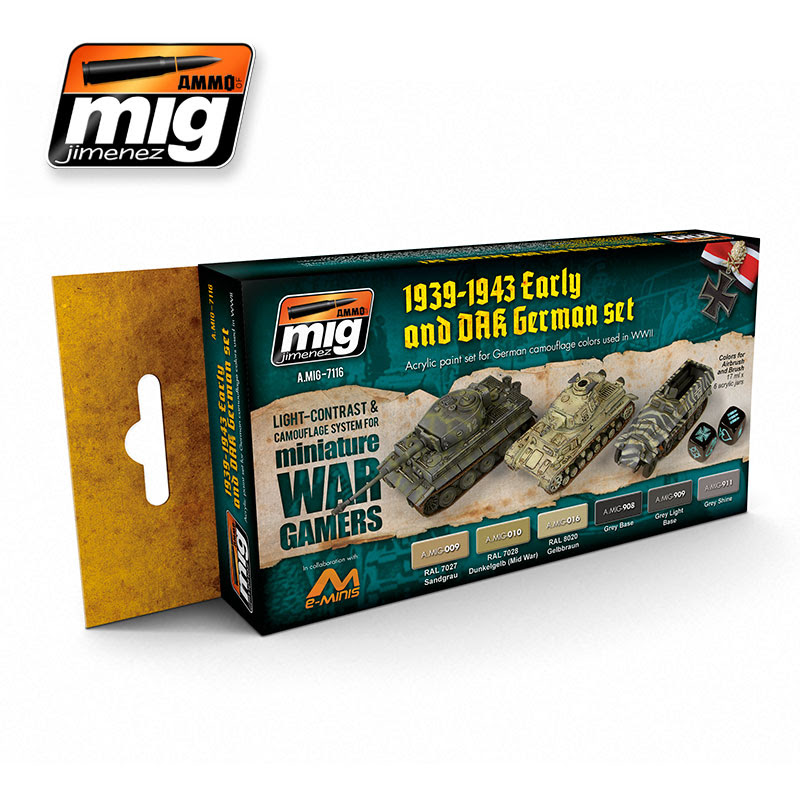 A.MIG-7116 WARGAME EARLY AND DAK GERMAN SET
