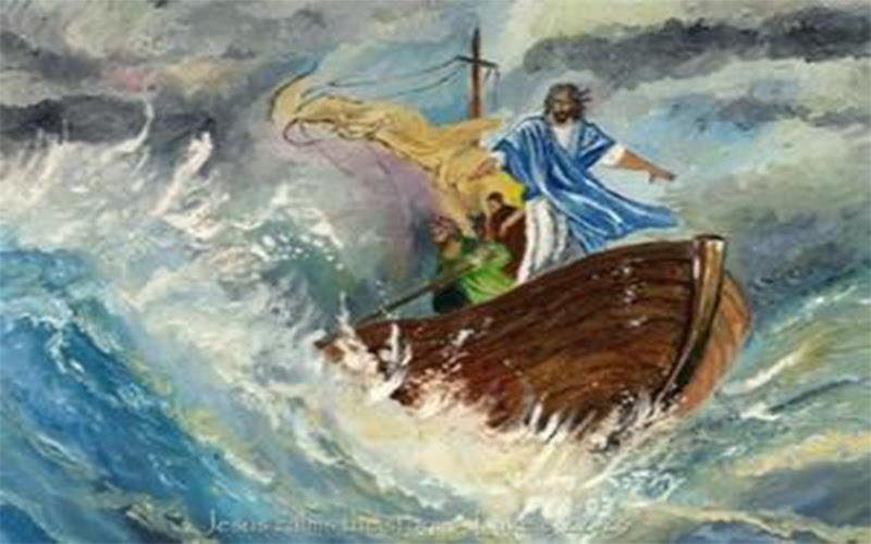 Resultado de imagen para nave de la iglesia azotada por tempestades
