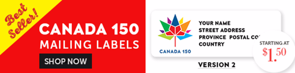 Canada 150 Labels V2