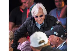 Bob Baffert reacts as Post 7 is assigned to Kentucky Derby winner Justify for the Preakness Stakes