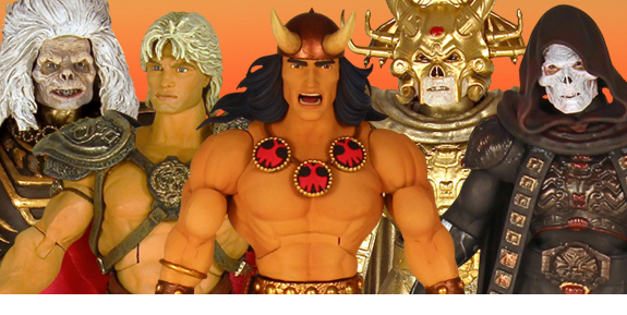 MOTU COLLECTOR'S CHOICE WILLIAM STOUT COLLECTION & CONAN THE BARBARIAN