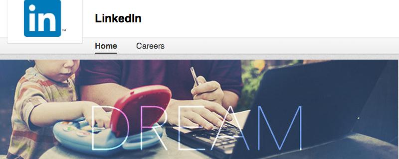 LinkedIn brand page