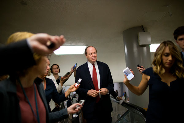 Senator Richard Shelby of Alabama on Capitol Hill in June. Senate Republicans were aghast at President Trump's harsh treatment of their former colleague, Attorney General Jeff Sessions.