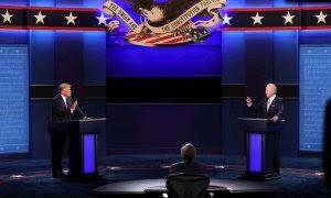 Una imagen del anterior debate entre Trump y Biden. - EFE