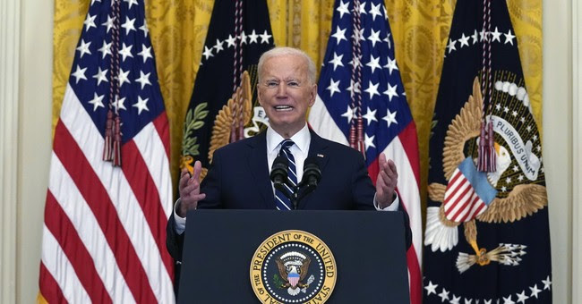 Joe Biden speaking at a press conference