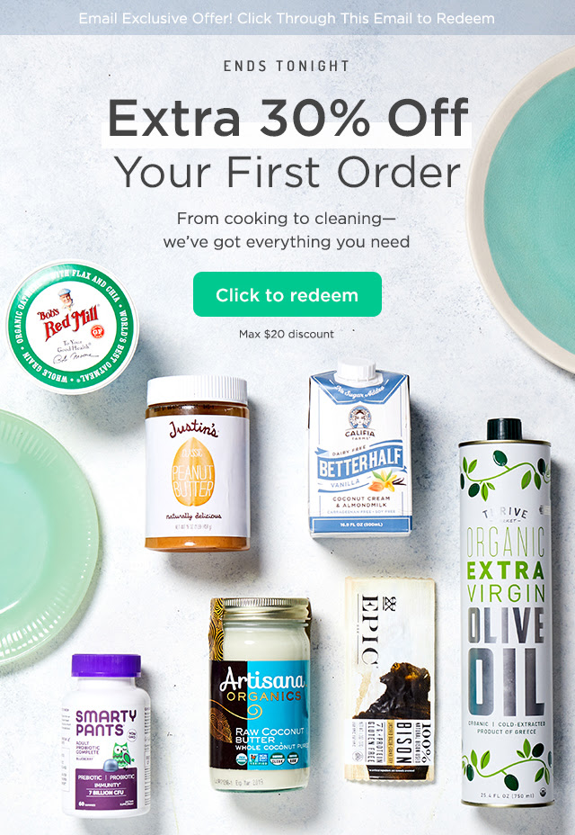 Ends Tonight: Extra 30% Off Your First Order. From cooking to cleaning - we've got everything you need. Click to redeem. Max $20 discount.