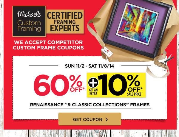 60% OFF + GET AN EXTRA 10% OFF* SALE PRICES - RENAISSANCE™ & CLASSIC COLLECTIONS™ FRAMES