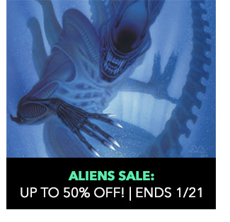 Aliens Sale: up to 50% off! Sale ends 1/21.