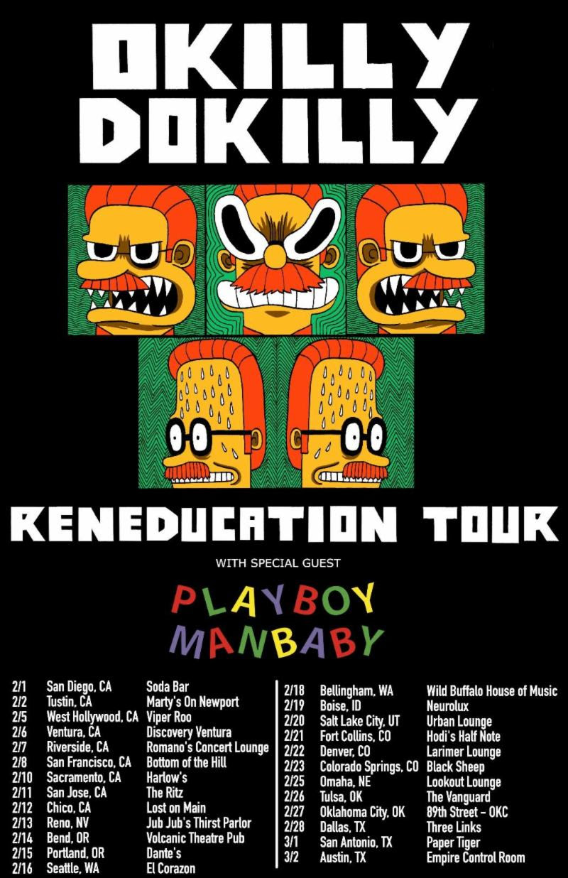 "Nedal"" Band OKILLY DOKILLY is Back! Kicking Off Reneducation Tour on"